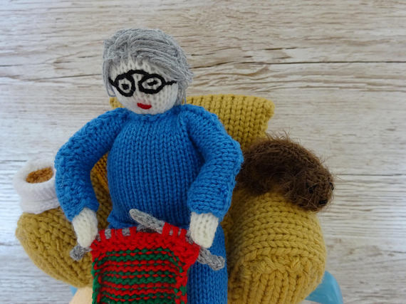 Knitted Tea Cosy Cosie Cozy Granny, Grandma, Nanna, Knitting ...