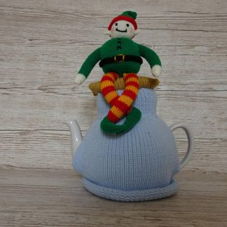knitted elf tea cozy