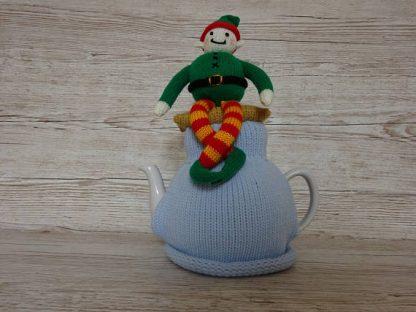 knitted elf tea cozy