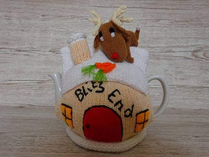tea cosy rudolph on roof